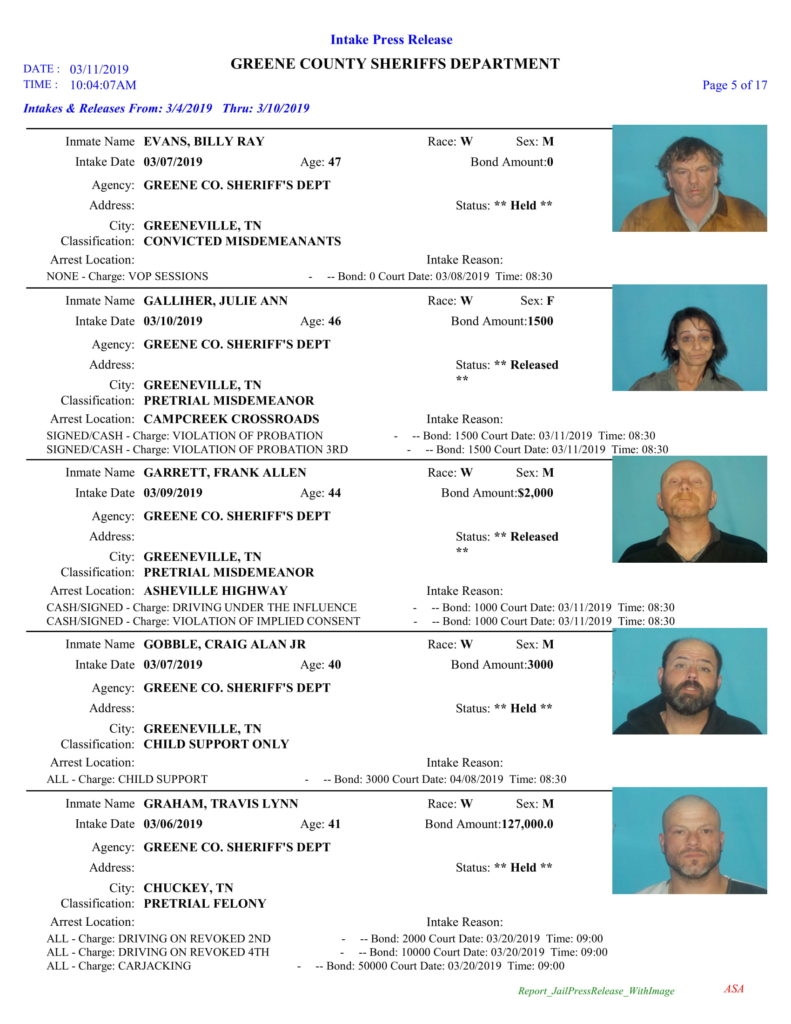 Greene County Sheriff's Office – TN Busted